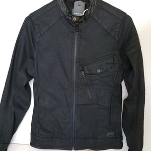 G - STAR mens Black Denim Jacket - Small
